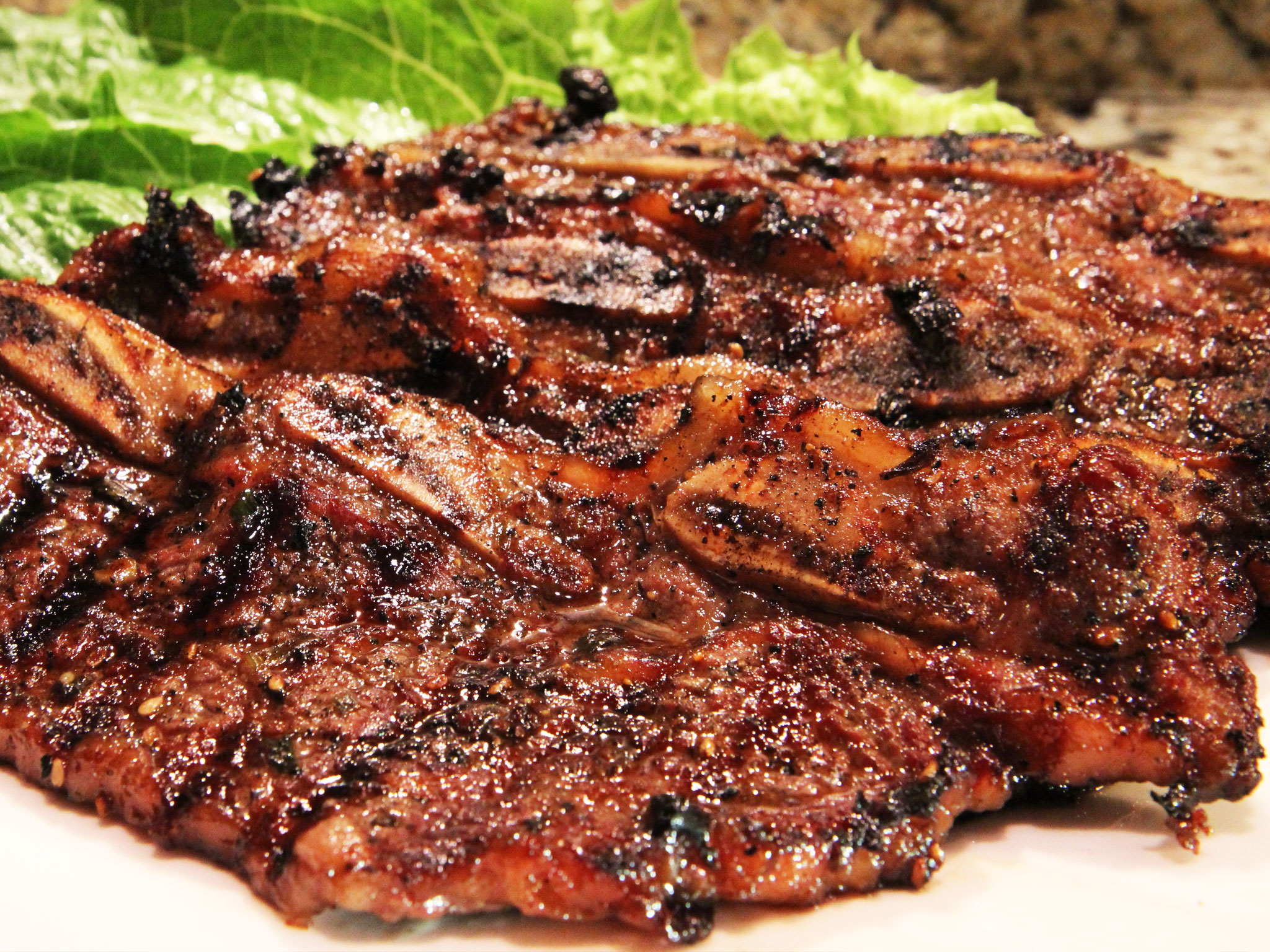 Barbecued short ribs grill - Ribs on the grill recipe ...